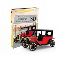 SASSI Junior - Livre et maquette La voiture 3D - Dès 6 ans