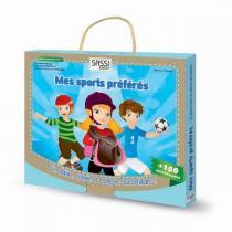 SASSI Junior - Malette de jeux et coloriages Mes sports préférés - Dès 5 ans