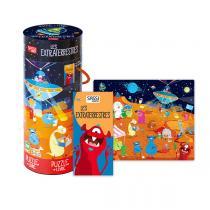 SASSI Junior - Puzzle et livre Les extraterrestres - Dès 5 ans