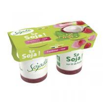Sojade (Frais) - Soja lit fruits framboise rose 2x125g