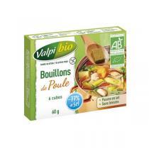 Valpibio - Bouillon de poule cube Bio - 60g