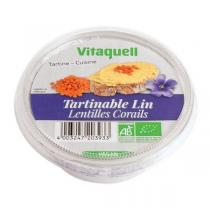Vitaquell Frais - Tartinable Lin Lentilles corail - 125 g