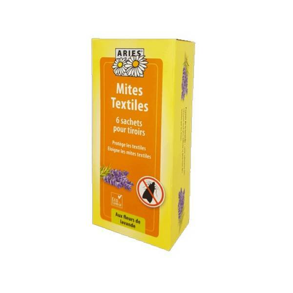 Aries - Sachets tirroir anti-mites textiles x6