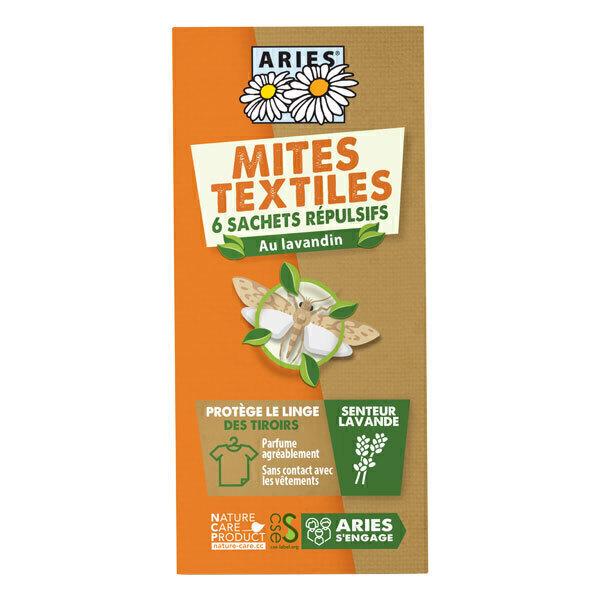 Aries - Sachets tirroir anti-mites textiles x6