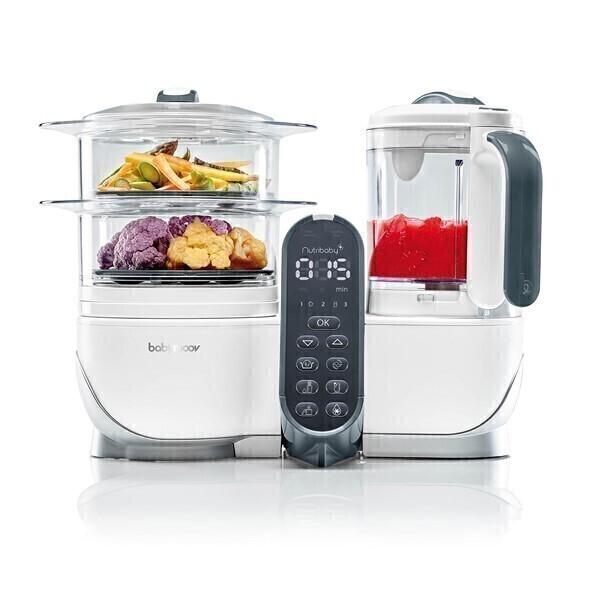 robot cuiseur mixeur b b nutribaby 5 en 1 blanc babymoov acheter sur. Black Bedroom Furniture Sets. Home Design Ideas