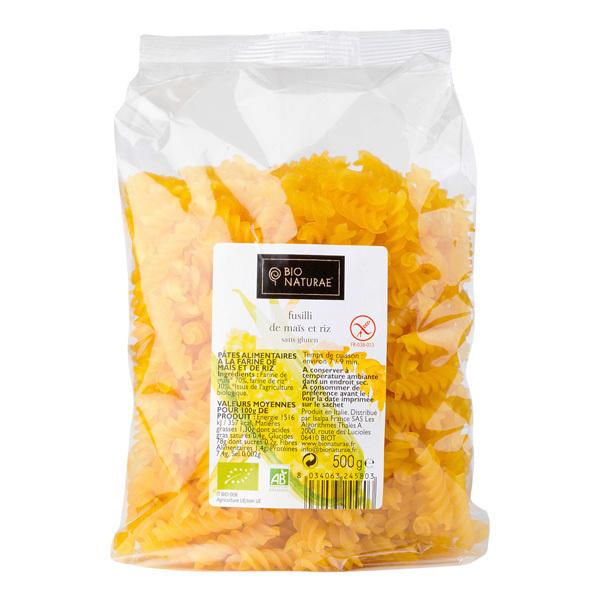 Bio Naturae - Pâtes Fusilli sans gluten - 500 g