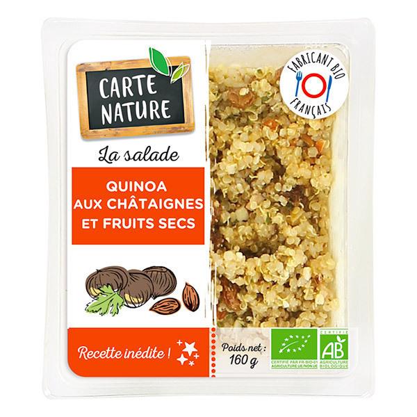 Carte Nature - Salade de quinoa aux châtaignes et fruits secs 160g