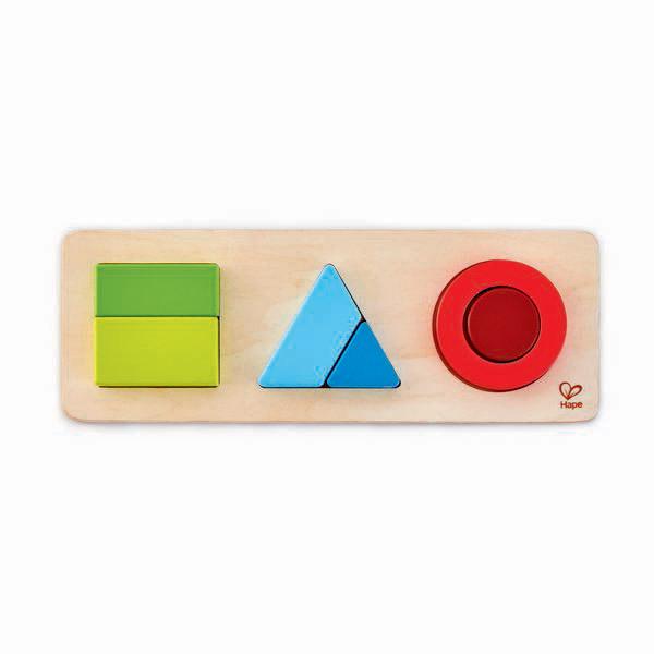 Hape - Puzzle géométrique recto verso - Dès 18 mois