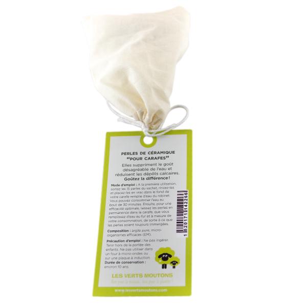 Les Verts Moutons - Perles de céramique EM pour carafe 15 pièces