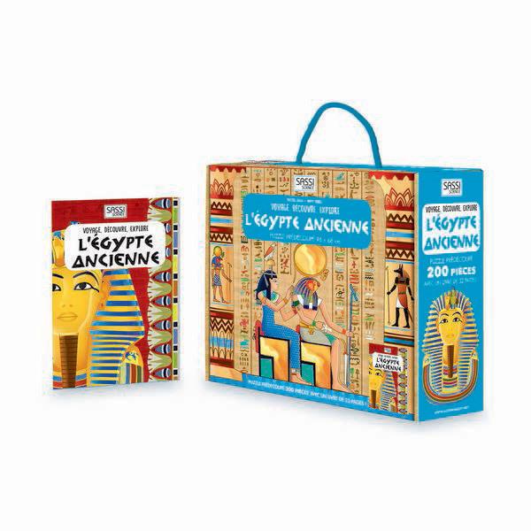 SASSI Junior - Livre et puzzle L'Egypte ancienne - Dès 6 ans