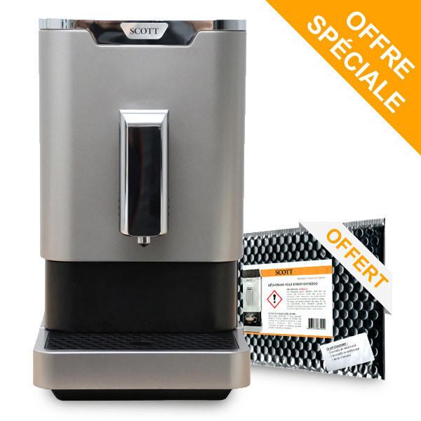Scott - Machine à café Slimissimo Silver + Kit de détartrage offert