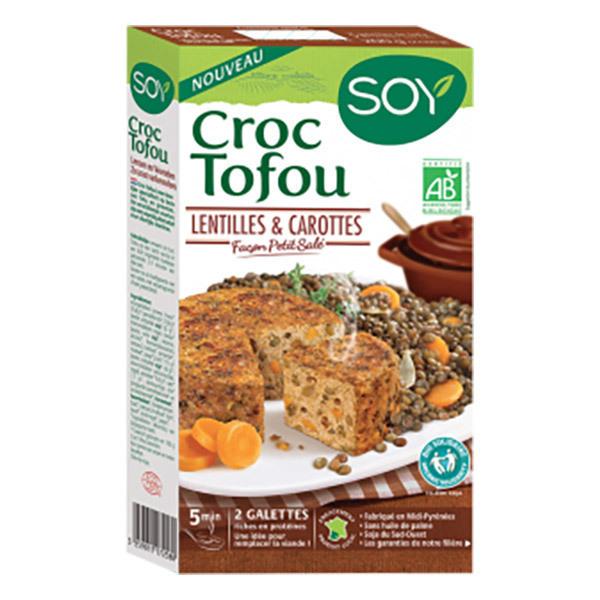 Soy (frais) - Croque tofou lentilles carotte