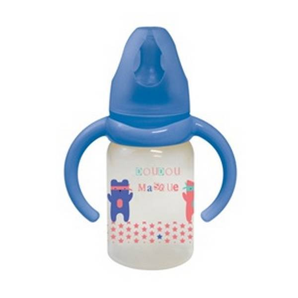 Tex Baby - Biberon avec poignées - Débit variable 120ml Bleu 6-18 mois