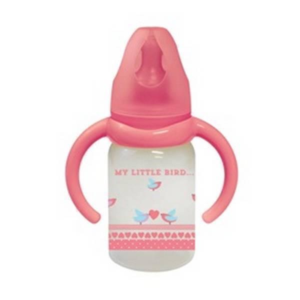Tex Baby - Biberon avec poignées - Débit variable 120ml Framboise 6-18 mois