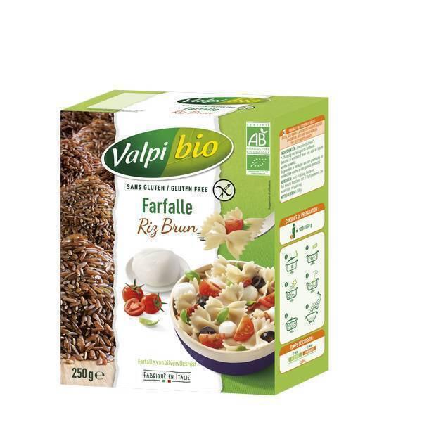 Valpibio - Farfalle riz brun Bio sans Gluten - 250g