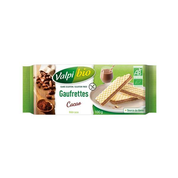 Valpibio - Gaufrettes cacao Bio 100g