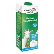 Andechser Natur - Lait de chèvre bio demi-écrémé 1,5 % MG - 1 L