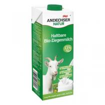 Andechser Natur - Lait de chèvre bio entier 3,0 % MG - 1 L