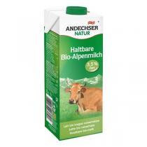 Andechser Natur - Lait de vache bio entier des Alpes 3,5 % MG - 1 L