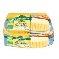 Bonneterre - Beurre de baratte demi-sel origine France - 250 g
