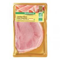 Bonneterre - Jambon blanc avec couenne - 2 tranches - 90 g