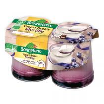 Bonneterre - Yaourt brebis myrtille - 2 x 125 g