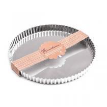 Mirontaine - Moule à tarte rond en fer blanc 30cm