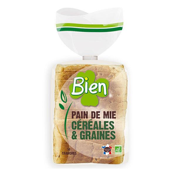 Bien Pâtisserie - Pain de mie tranché céréales et graines 500g