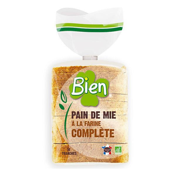 Bien Pâtisserie - Pain de mie tranché farine complète 500g