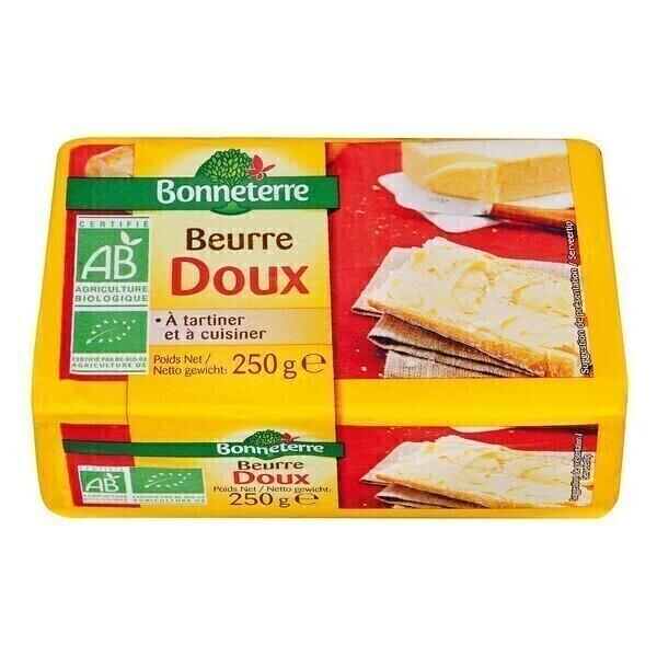 Bonneterre - Beurre doux - 250 g