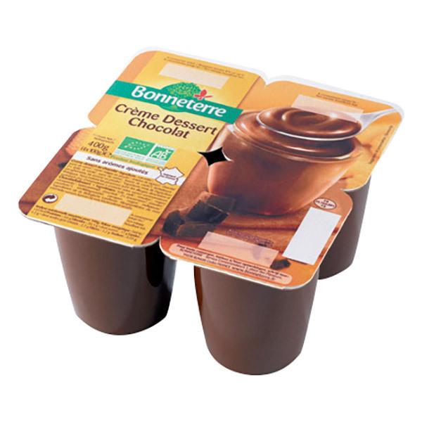 Bonneterre - Crème dessert chocolat - 4 x 100 g