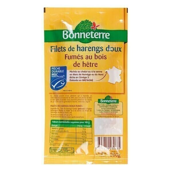 Bonneterre - Filets de harengs doux MSC - 200 g