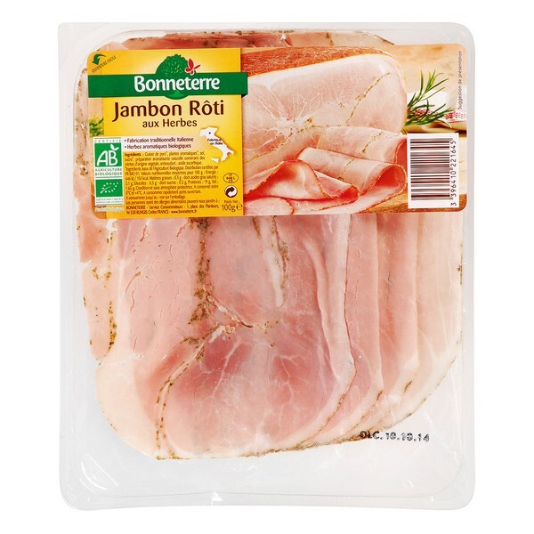 Bonneterre - Jambon rôti aux herbes origine Italie - 100 g