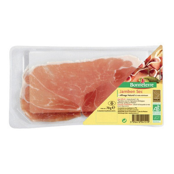 Bonneterre - Jambon sec origine Italie - 70 g