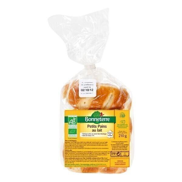 Bonneterre - Petits pains au lait - 210 g