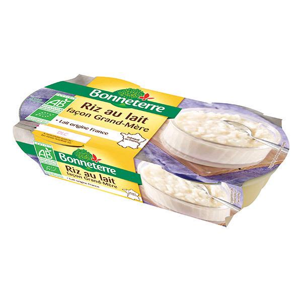Bonneterre - Riz au lait façon Grand-Mère - 2 x 140 g