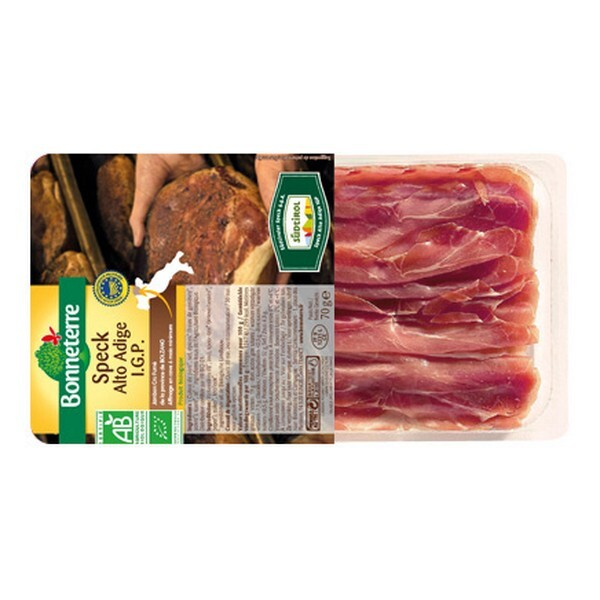 Bonneterre - Speck alto adige IGP - Jambon cru fumé origine Italie - 70 g