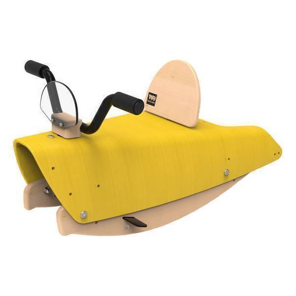 Chou Du Volant - Bascule Moto 2en1 Jaune - De 1 à 3 ans