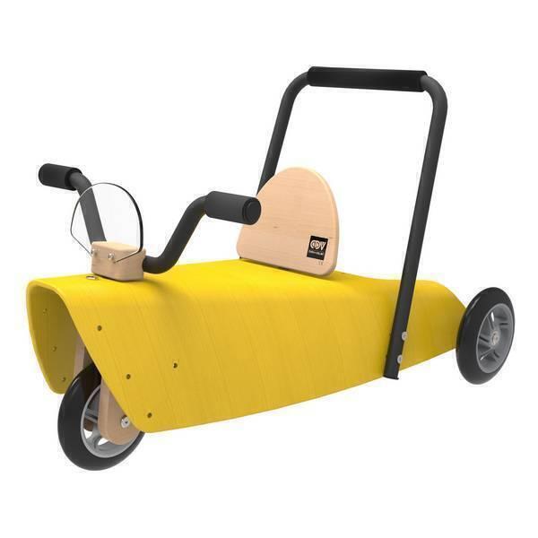 porteur moto 2 en 1 jaune de 1 3 ans chou du volant. Black Bedroom Furniture Sets. Home Design Ideas