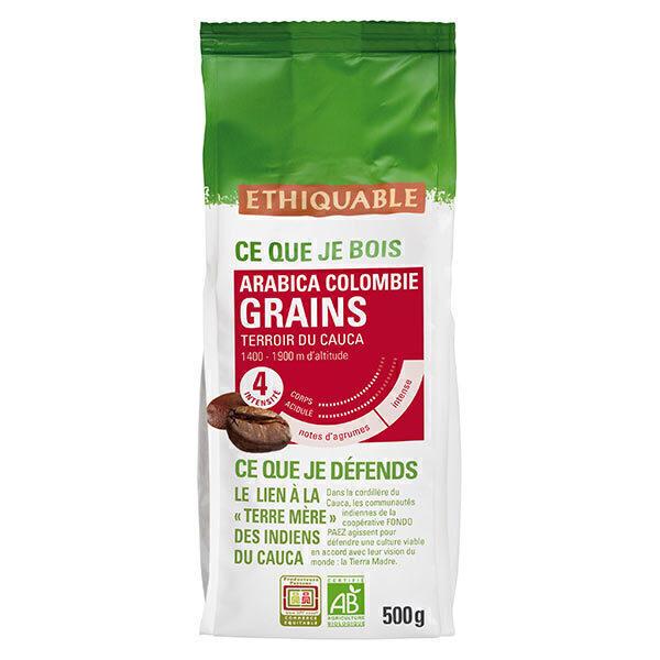 Ethiquable - Café grains Colombie bio - 500 g