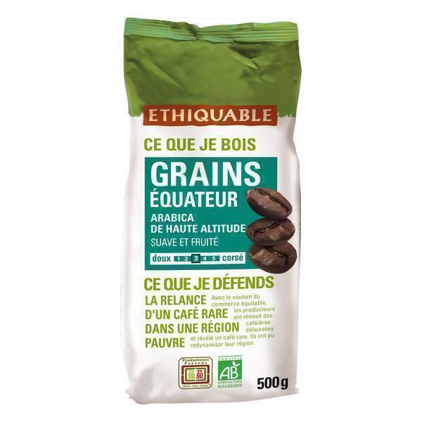 Ethiquable - Café grains Equateur bio - 500 g