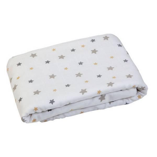 couverture plaid toiles grises 100x70cm gloop la r f rence bien tre bio b b. Black Bedroom Furniture Sets. Home Design Ideas