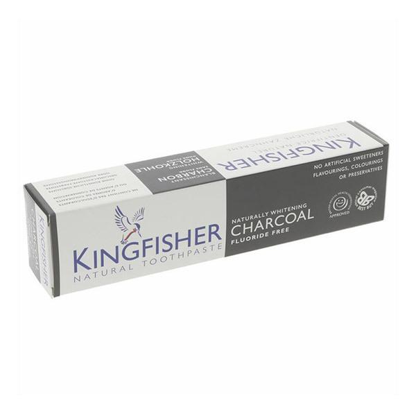 Kingfisher - Dentifrice charbon et menthe blanchissant