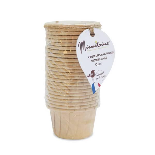 Mirontaine - 25 Mini caissettes de cuisson en papier Ø 6 cm