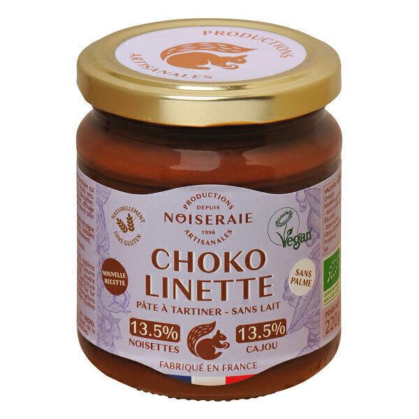 Noiseraie - Pâte à tartiner Choko Linette noisettes et cajou 220 g