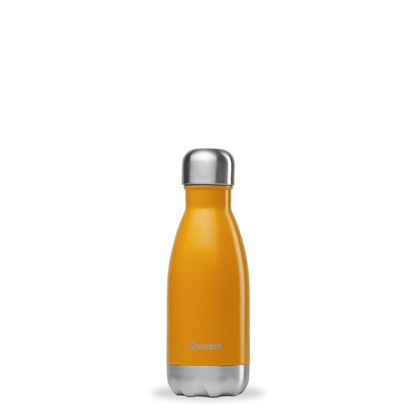 Qwetch - Bouteille isotherme inox safran - 260 ml