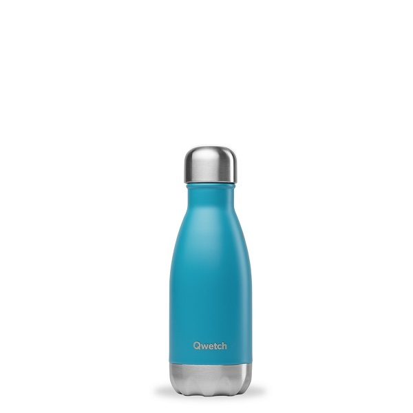 Qwetch - Bouteille isotherme inox Turquoise 26cl