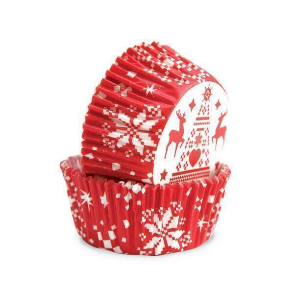 ScrapCooking - Lot de 36 caissettes en papier motifs de Noël