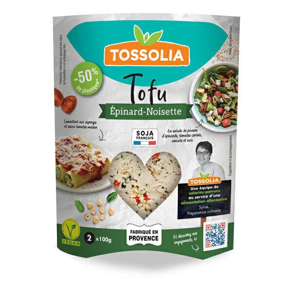 Tossolia - Tofu épinard noisette 200g