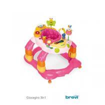 Brevi - Giocagiro 3en1: Trotteur, balancelle, centre d'activité - Rose